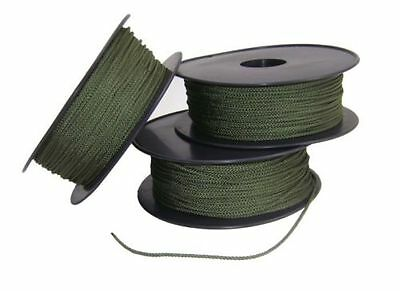 Hootchie Cord Nylon Camping Rope 50 Meters x 2mm Cadets Cord Olive Green