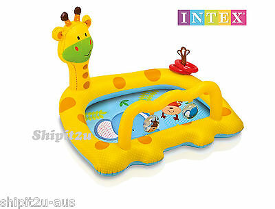 Intex Smiley Giraffe Baby Toddler Pool Inflatable Kids Paddle Pool Bal Pit