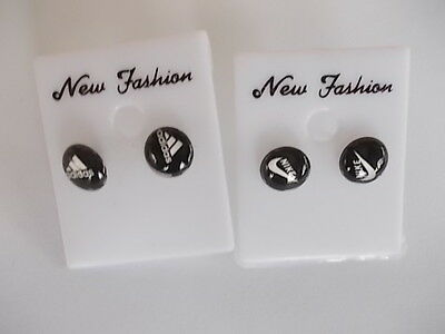 awesome 2 pairs fashion stud earings  brand new free postage