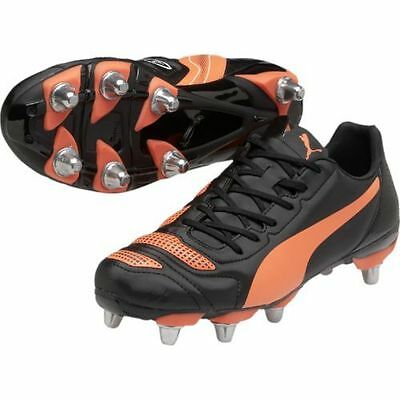 Puma evoPOWER 4.2 H8 SG Black Rugby Boots Sizes:(UK 7 - 13) 103305-01