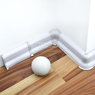 52mm PVC SILVER GREY 2.5m SKIRTING BOARD & ACCESSORIES for laminate flooring new