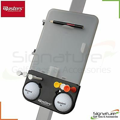 Masters Deluxe Golf Trolley Scorecard Holder Holds Balls Tees Pencil Universal