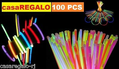 100 pcs Mixed Colour Glow Sticks Bracelet Light Glowsticks Glow in Dark Party