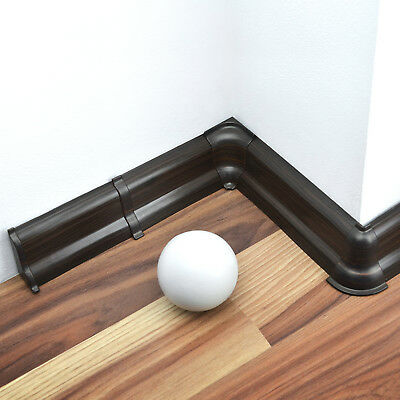 52mm/62mm PVC WENGE 2.5m SKIRTING BOARD & ACCESSORIES wall flooring cables cover