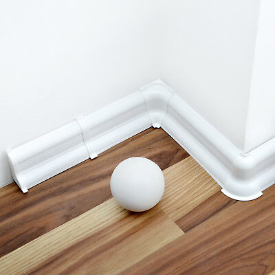 52mm/62mm/70mm/75mm PVC WHITE 2.5m SKIRTING BOARD & ACCESSORIES wall-floor joint