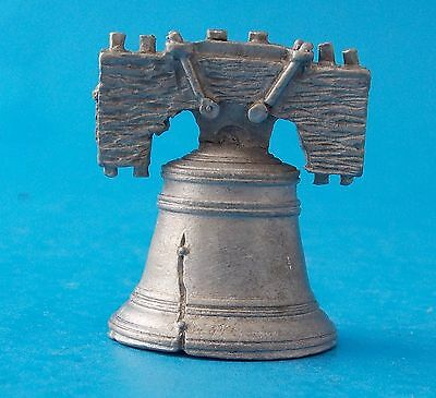 """Liberty Bell Pewter Thimble 1-3/8"""" #t437 Spoon 1987"""