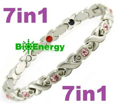 Magnetic Energy  Armband Power Bracelet Health Bio Magnet 7in1 lady's GERMANIUM