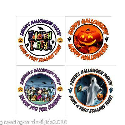 Personalised Halloween Stickers Labels for Goodie Bags or Favours