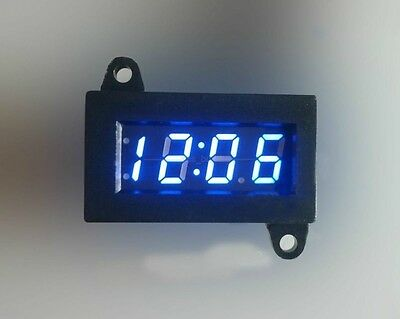 12V Waterproof Digital Clock LED time 12 Hour Uhrzeit For Car Motorcycle Bike B