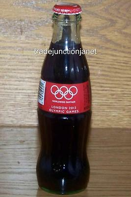 NEW LE USA FULL LONDON 2012 OLYMPIC GAMES COCA-COLA 8 Oz GREEN GLASS BOTTLE