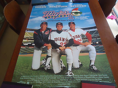 "vintage major league  original movie video poster 27""x 40"" 1994"
