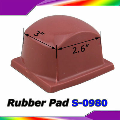 "New Pad Printing Silicone Rubber Head Round Square Silicone Pad 3""x2.6"" Soft"