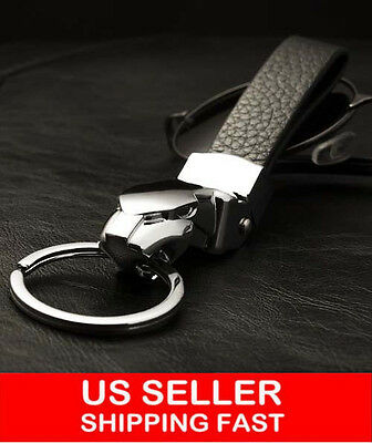 Men's High-grade Leopard Head Car leather Keychain With Key Ring 243