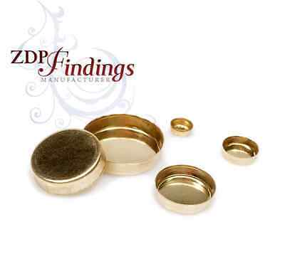 Choose your Size, Round 14k Gold Filled (NOT PLATED) Bezel Cups Tray