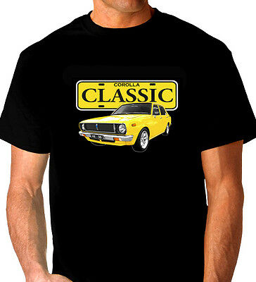 Toyota  Ke 30  Corolla Sedan  Black   T-Shirt     Men's  Ladies  Kid's  Sizes