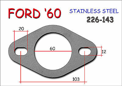 STAINLESS STEEL UNIVERSAL EXHAUST FLANGE 60mm - Thickness 8mm FORD Type