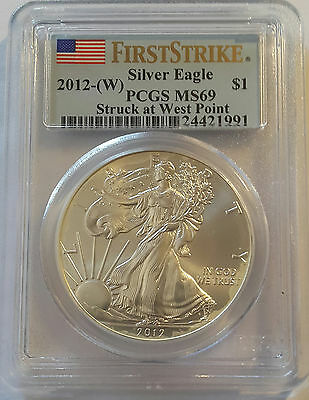 2012-W / $1 American Silver Eagle - PCGS MS69  First Strike !!