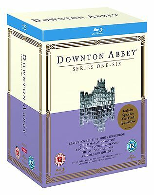 Downton Abbey 1-6 The Complete Collection 1 2 3 4 5 6 Blu-Ray Box Set Englisch