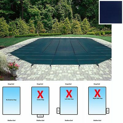 Mesh Rectangular Safety Cover - 15' x 30' In-Ground Pool-12-Year Warranty-Blue