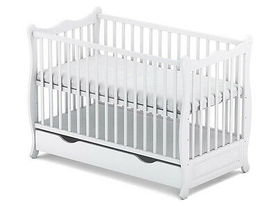 "Baby Cot With Drawer/junior Bed /baby Cots/ Cot Beds ""sofiaa"" 4 Models +Mattress"