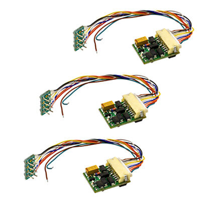 MRC 3 Pack Of 0001651 Ho Decoder With Jst Connector/Adapter (1661)