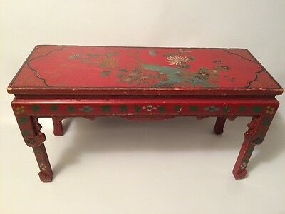 Antique Chinese lacquer hand painted with Gilt decoration table  Stand