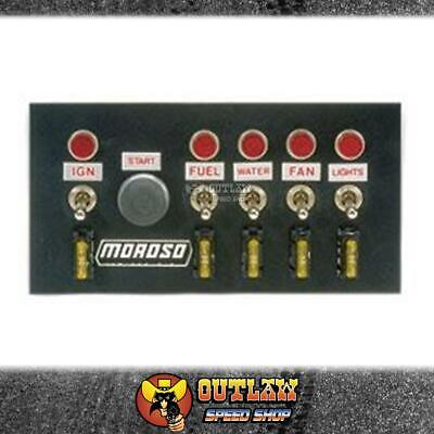 Moroso Switch Panel Drag Race 5 X On/off & Starter Button - Mo74131