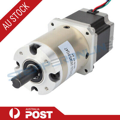 47:1 Planetary Gearbox Nema 23 Stepper Motor 2.8A for DIY CNC Mill Lathe Router