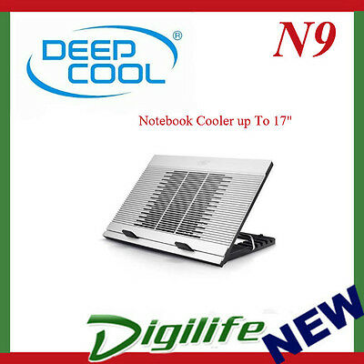 "Deepcool N9 Notebook Cooler up To 17"" Angle Adjustable, Antislip, Aluminium"