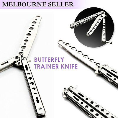 Best Folding Butterfly Knife Training Balisong Dull Blade Practice Trainer