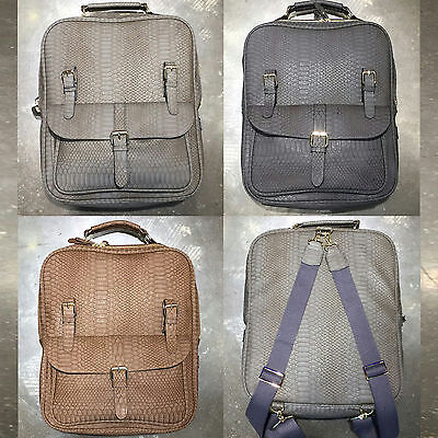 Korea Fashion Unisex New RUCI Backpack School Travel Business Bag Faux Leather