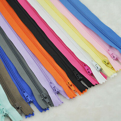10 pcs Upick Nylon Coil Zippers Tailor Sewing Tools Craft 9 Inch