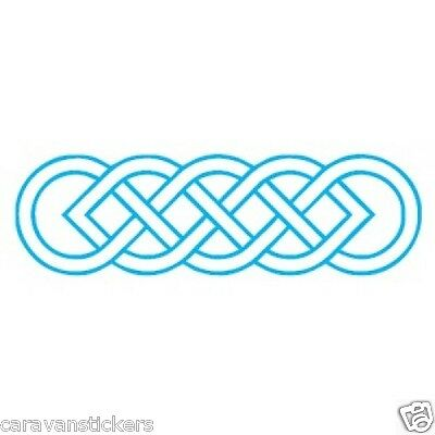 Celtic Narrowboat Knot Rectangular Sticker Decal Graphic STYLE 6 - SINGLE