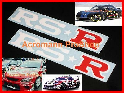 2x 6inch 15.2cm RSR decal sticker RS R S15 EK Si Scion RSX Sentra S14 S13 86 FD