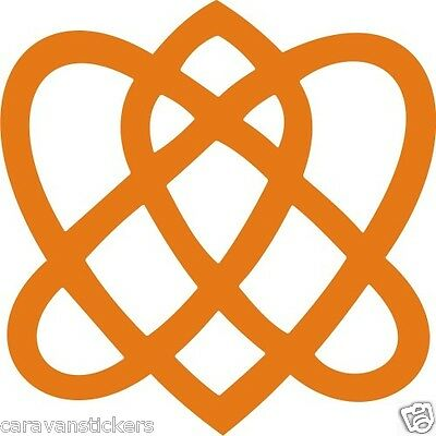 Celtic Narrowboat Knot Square Sticker Decal Graphic STYLE 2 - SINGLE