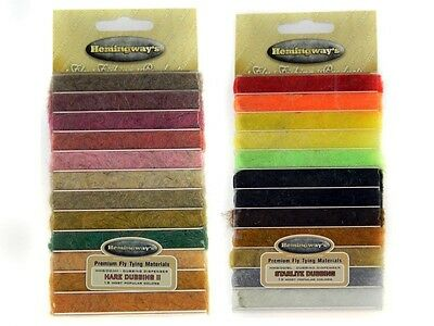 Hemingway's Dubbing Dispensers / various sets / fly tying materials