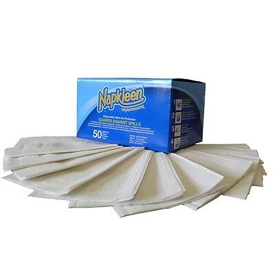Napkleen Disposable Clothing Protector Bibs - 330mm x 460mm (Pack Of 50)