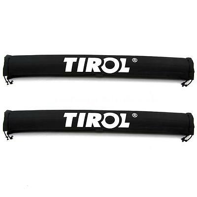 1 Pair Car Roof Rack Pads Crossbar Inflatable Padded Cover Luggage Carrier Black