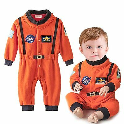 Baby Boy Girl Spaceman Astronaut Christmas Fancy Party Costume Outfit Clothes