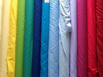 Plain Poly cotton fabric pre shrunk dress 44inches or 112cm wide