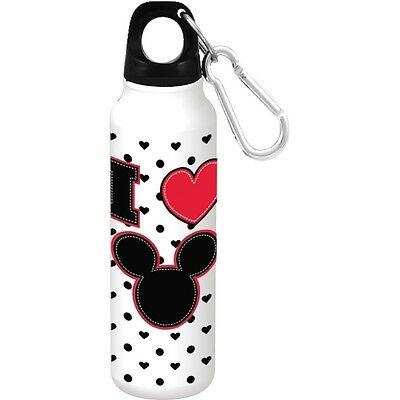 Disney Mickey Heart Aluminum Bottle Wide Mouth White