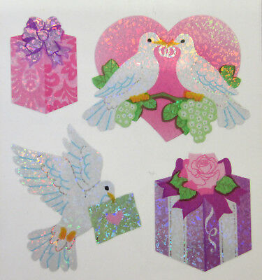 20 Stickers Dove & Wedding Present for Card, Craft & Scrapbooking Embellishments