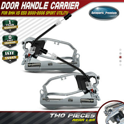 2x Door Handle Carrier for BMW E53 X5 00-06 Rear Left and Right Passenger Side