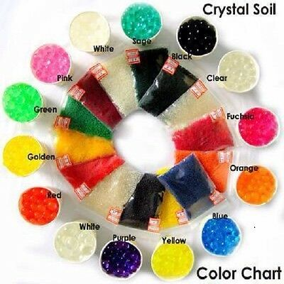 Crystal Soil Water Beads Pearls Gel ball 12 Colours Party wedding Decor AU STOCK