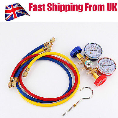 Refrigeration Air Conditioning AC Diagnostic Testing Manifold Gauge Tool Set UK