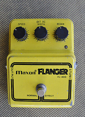 rare vintage MAXON FL-303 Flanger Made in Japan c 1977