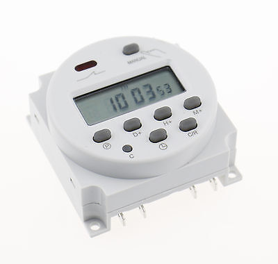Digital LCD Programmable Time CN101A AC/DC 12V AC 250V 16A Timer Relay Switch