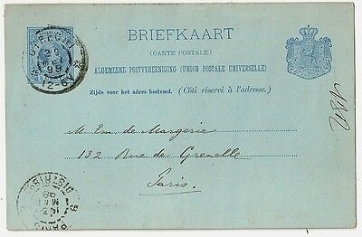 UTRECHT Briefkaart Nederland to PARIS. 1898. COVER, card to france.
