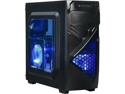DIYPC Alnitak-BK Black USB 3.0 ATX and Micro-ATX Mid Tower Gaming Computer Case