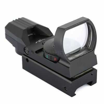 Holographic 4 Reticle Reflex Red Green Dot Sight Scope 20mm Rail Hunting Gun Use